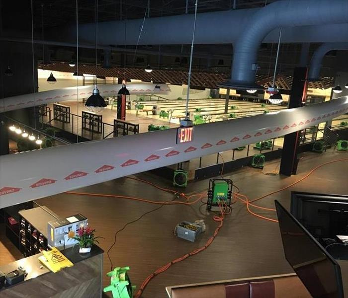 Flood at local bowling alley and entertainment center