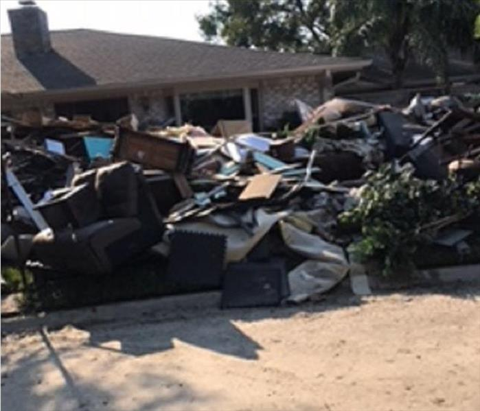 Houston Debris Piled High