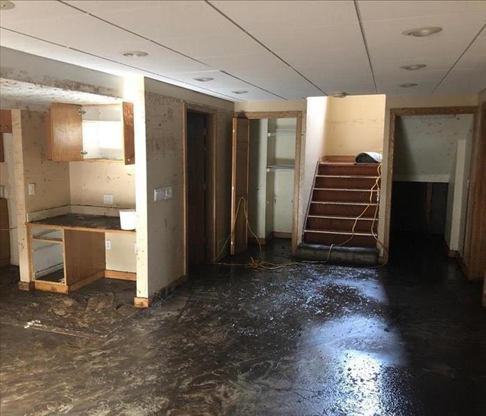 Flood damage to basement in Colorado Springs, CO.