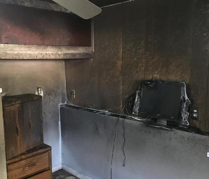 Fire Damage Leaves TV Viewing in the Dark