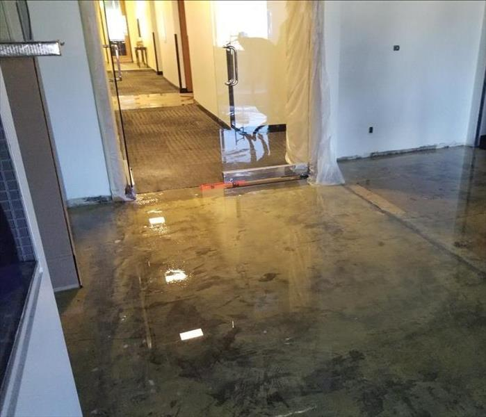 Flooding at an office building.