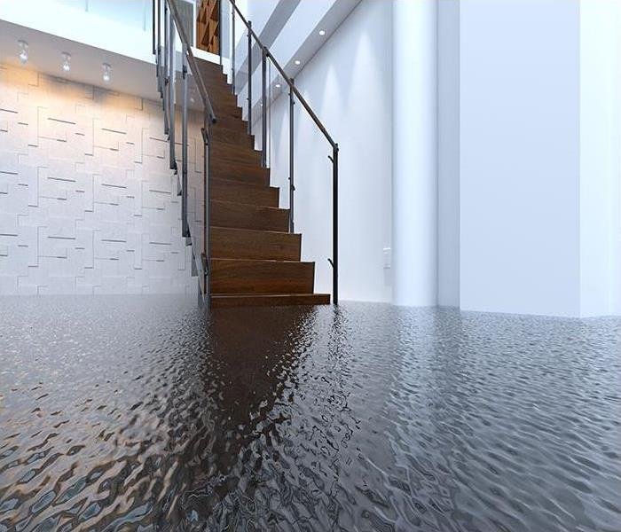 inches of water flooding a home