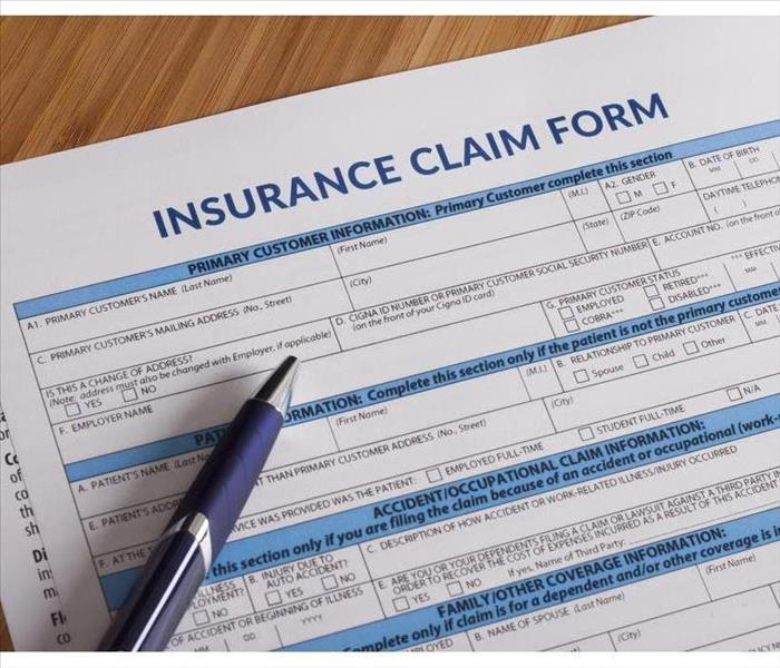 Insurance claims form